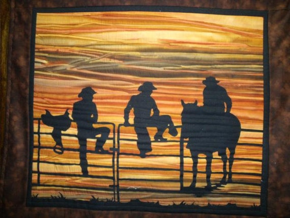 Items Similar To Cowboy Quilt Kit With Pre Cut Fabric Die