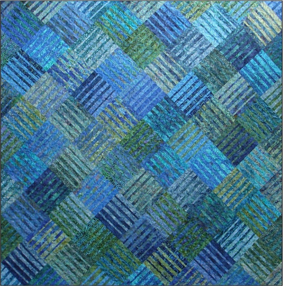 Underground Blues Quilt Pattern Blue by UndercoverQuilts on Etsy