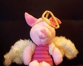 Vintage 1980s soft toy  Vintage Disney Piglet from  Winnie The Pooh Bear  RARE.