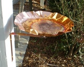 Deck or Post Birdbath or Bird Feeder made with solid copper  FREE SHIPPING to U S Zip codes