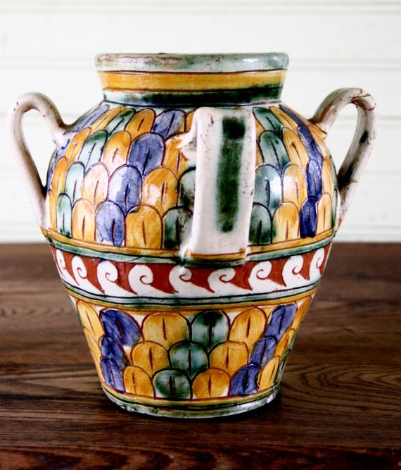 Reserved For Nazzerenovintage Italian Sgraffito Pottery Hand