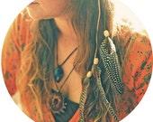 Native Wanderer Leather and Feather Headband / Hippie / Boho / Headdress / Headpiece
