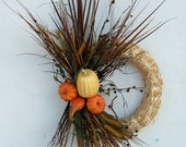 Fall Wreath  -  Fall Harvest Wreath - DyJoDesigns