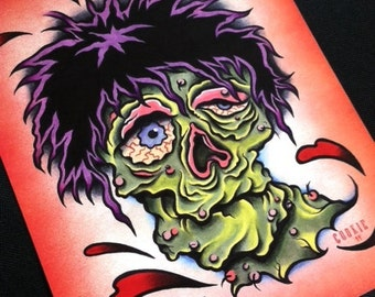 Goofy Zombie Standard Print