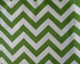 Outdoor Pillow Cover / Indoor Pillow Cover with a Green Chevron Zig Zag Print