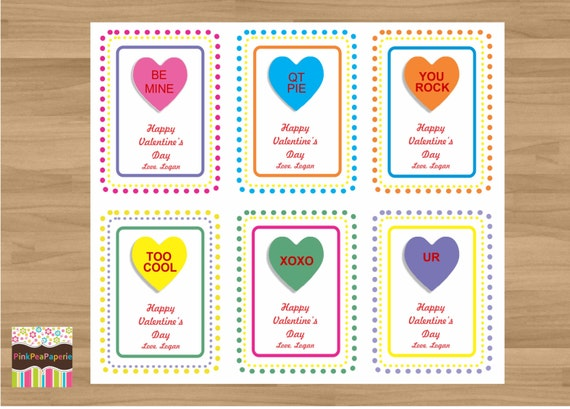 conversation hearts valentines day cards items similar to personalized bold conversation 6067