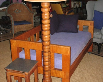 Floor Lamp - Lamp Tall - Turned Lamp - Wood Lamp