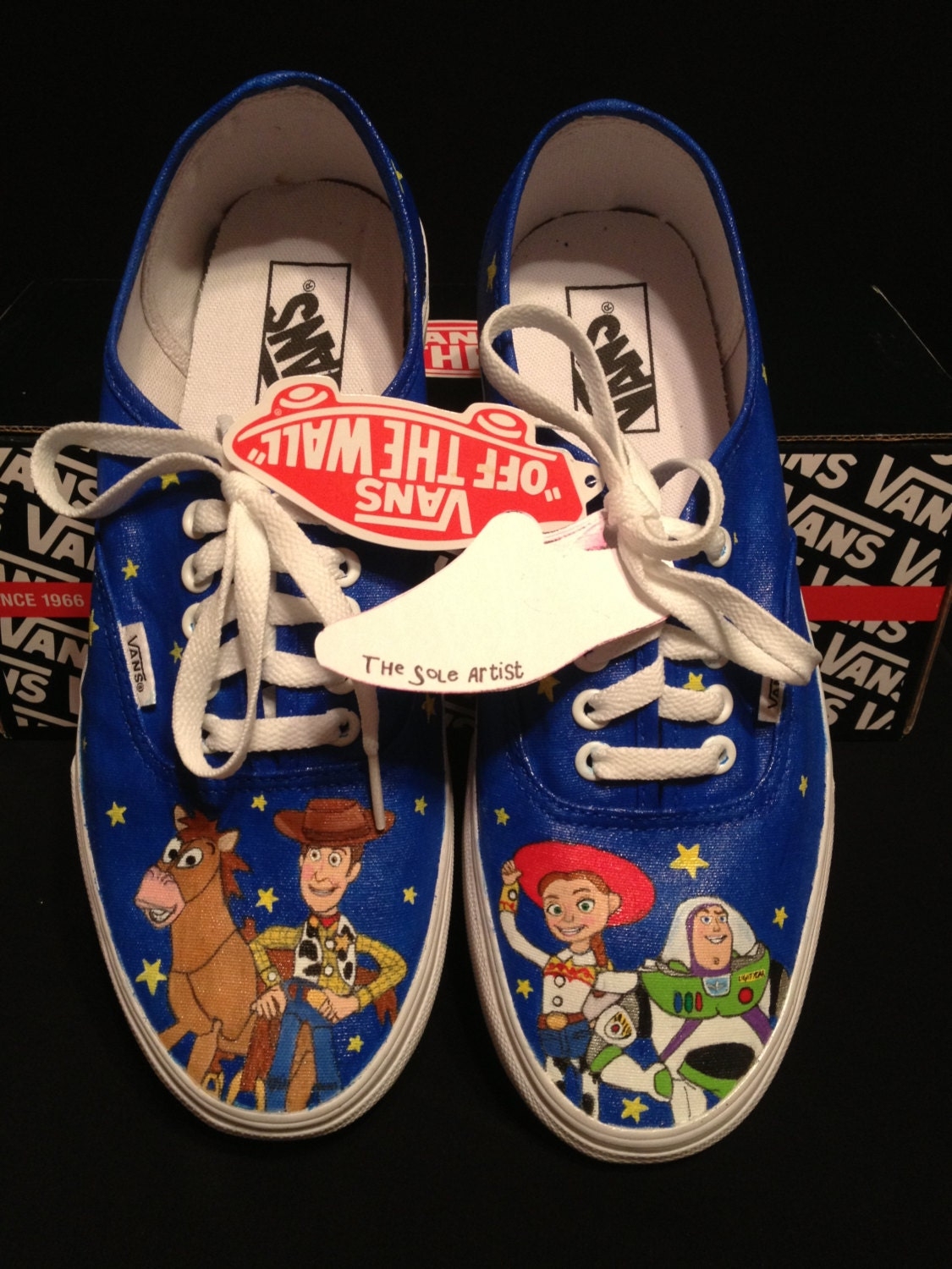 Custom Vans For Sale >> Custom Designed Hand Painted Vans by TheSoleArtist on Etsy