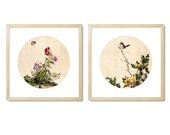 Classic Chinese Painting Print Set With Frame (2)