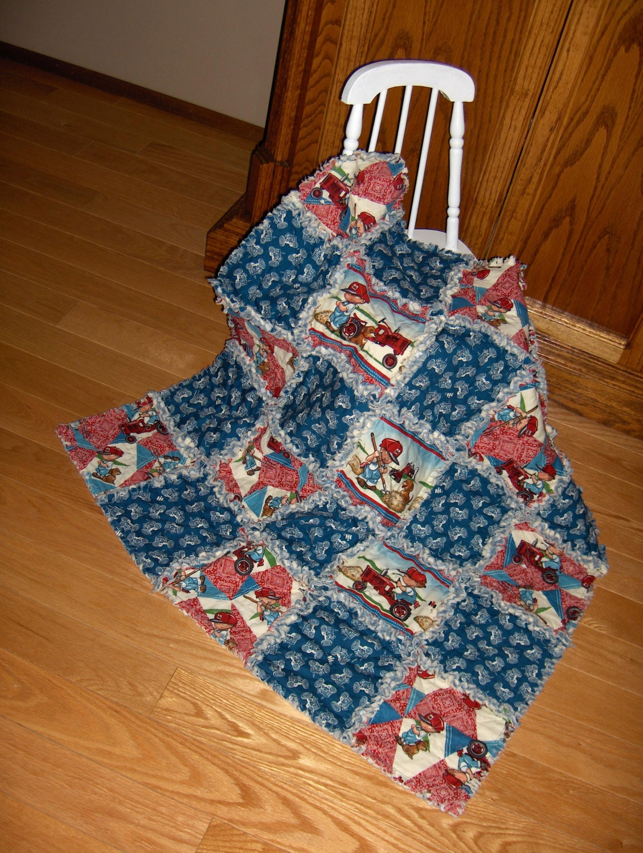 Case Ih Tractor Fabric Baby Rag Quilt International Harvester
