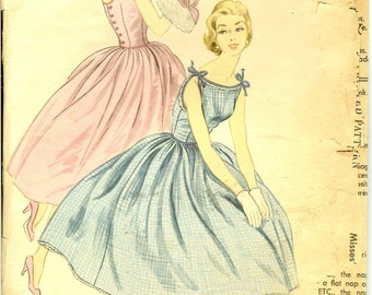 Vintage Party Dress 50s Vintage Sewing Pattern McCalls 3260 Size 14  Bust 32