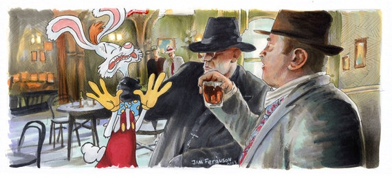 Who Framed Roger Rabbit - Happy Trails  Poster Print