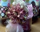 Feathery Floral Headband