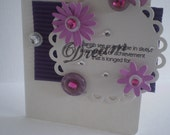 Handmade Greeting Card - birthday or just because - dream definition- buttons and flowers embellishments