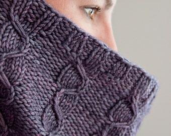 Lansbury Cowl Knitting Pattern Mock Cable Textured Aran Murder She Wrote PDF