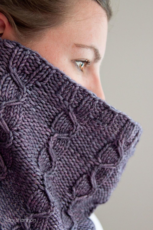 Snow Dog Knitting Pattern Free Download : Lansbury Cowl Knitting Pattern Mock Cable Textured Aran Murder She Wrote PDF ...
