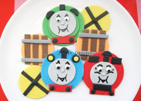 Edible THOMAS THE TRAIN Cupcake Toppers Thomas and Friends