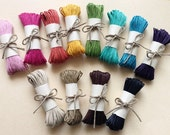 30 yards- Multi Color - 1mm Waxed Cotton Cord - DIY Organza Necklace Cord - Craft Cord/Thread- Macrame - Beading - Braiding Cord