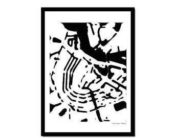 Poster Amsterdam Black&White
