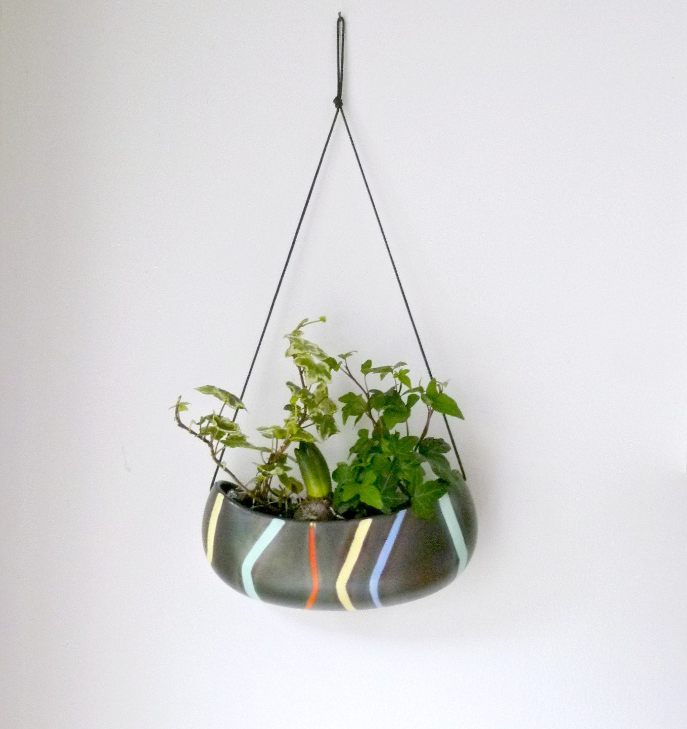 Mid Century Wall Vase Hanging Planter Indoor By