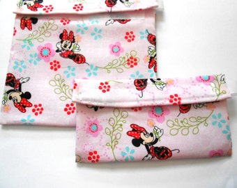 Minnie Mouse Reusable Sandwich and Snack Bag Set