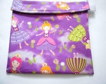 Purple Fairy Princess Reusable Sandwich Bag