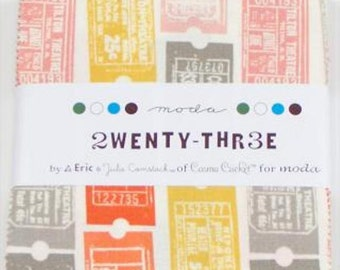 "Moda Fabrics ""2wenty Thr3e"" By Eric & Julie Comstock 5"" x 5""  Charm Pack ~ Pre Cuts in 42 Prints"