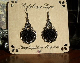 Black Dahlia  Earrings