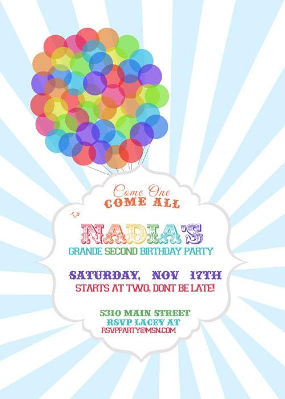 disney  pixar up inspired birthday invitation by