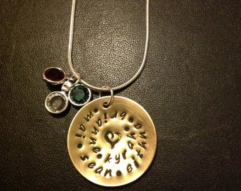 Mothers Day Gift - Personalized Name Swirl Necklace