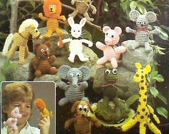 Sixteen (16) Vintage Crochet Finger Puppet Patterns