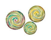 INSTANT DOWNLOAD-Colorful Spirals - Printable 1 inch round for jewelry, magnet, bottle cap, keychain, pendant- Jpg File no. A182 - meynenz