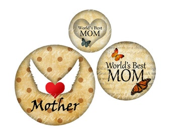 INSTANT DOWNLOAD-MOTHERS Day - Printable 1 inch round for jewelry, magnet, bottle cap, keychain, pendant, ring, brooch - Jpg File no. A289