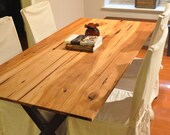 the LEA Dining Table - Reclaimed Pecan Wood Dining Table