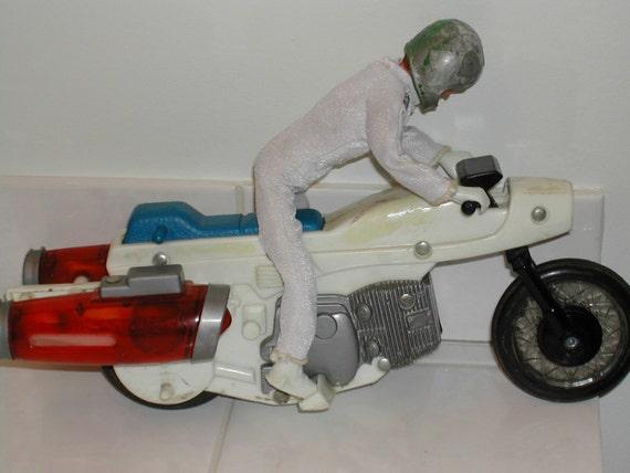 evel knievel rocket bike with rider vintage toy by merlinmn. Black Bedroom Furniture Sets. Home Design Ideas