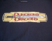 Authentic Dungeons and Dragons Tshirt Size Large Black - DnD Larping Nerd Style