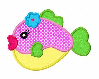 Instant Download Fish Applique Machine Embroidery Design NO:1315