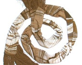 Vintage Italian jersey viscosa scarf -  1960s 60s -