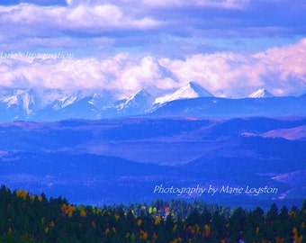 Mountains in Colorado 8 X 10 Fine Art Photography by Marie Logston.