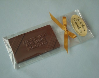 12 Milk Chocolate Thank You For Your Business Bar Caramel Filling Candy Networking Appreciation Gift