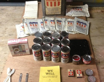 Amazing Antique Survival Kit.  Once-in-a-lifetime find.  Never used.