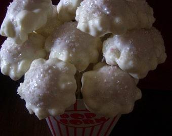 Cake Pops Popcorn Cake Pops Chocolate Covered Movie Theater Popcorn Pops Party Favors 1 dozen
