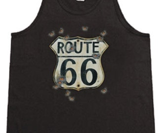 Rt 66 Sign / Mens Tank top or Sleeveless T-shirt