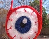 Crocheted Eyeball Purse