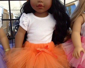 American Girl Doll Tutu Orange Tutu