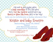 Wizard of Oz inspired Baby Shower or Baby Sprinkle Invitation or Invite