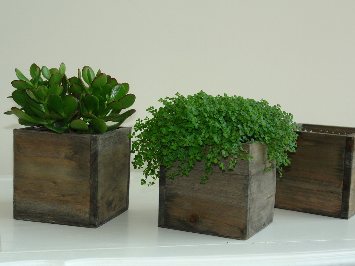 Wood box boxes woodland planter flower rustic pot