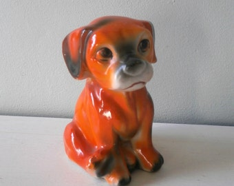 Vintage Dog Terrier China Figurine