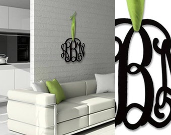 """Wall Monogram Initials -12"""" Acrylic made choose any Color - Shipped with FedEx 2 days shipping"""