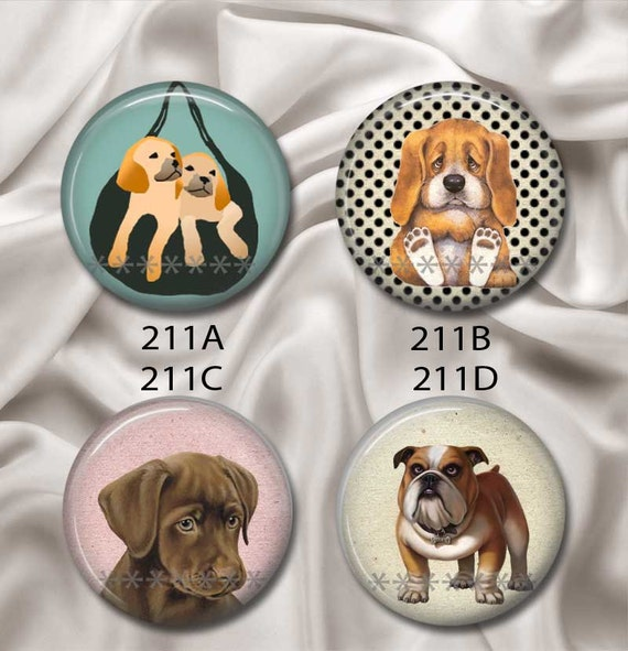 "More Dogs & Puppies - Interchangeable Magnetic Design Inserts - FIT Clique and Magnabilities 1"" Pendant Jewelry Bases...211"